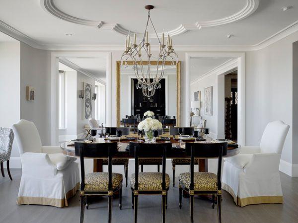 Роскошная столовая в классическом стиле