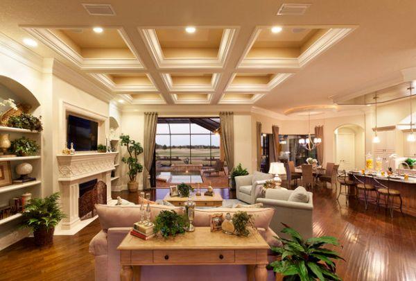 Роскошная гостиная в светлых тонах