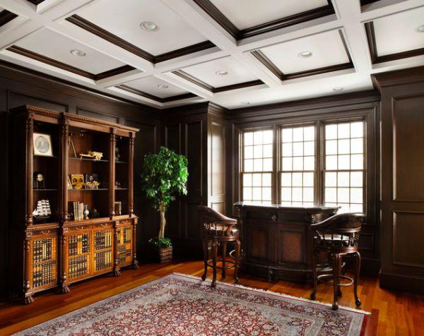 Потолочная подсветка в элегантной комнате
