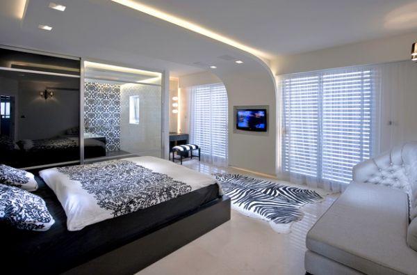 Интерьер спальни в футуристическом стиле