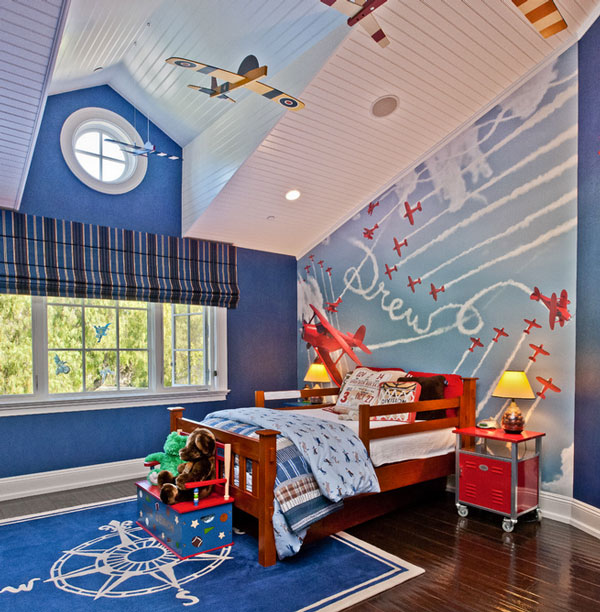 Ручная роспись потолка в детской
