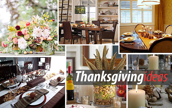 Original ways to design the center of the holiday table - your guests will appreciate the bright dominant