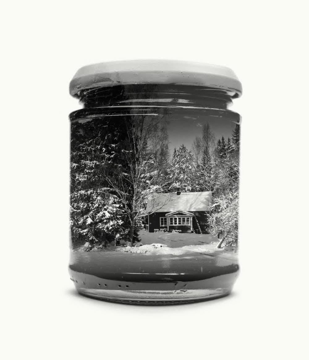 Фотопроект Кристоффера Реландера: финские пейзажи в стеклянных банках