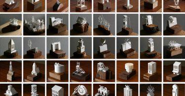Завершённый проект Чарльза Янга: бумажные модели архитектурных объектов города Пепейрхольм