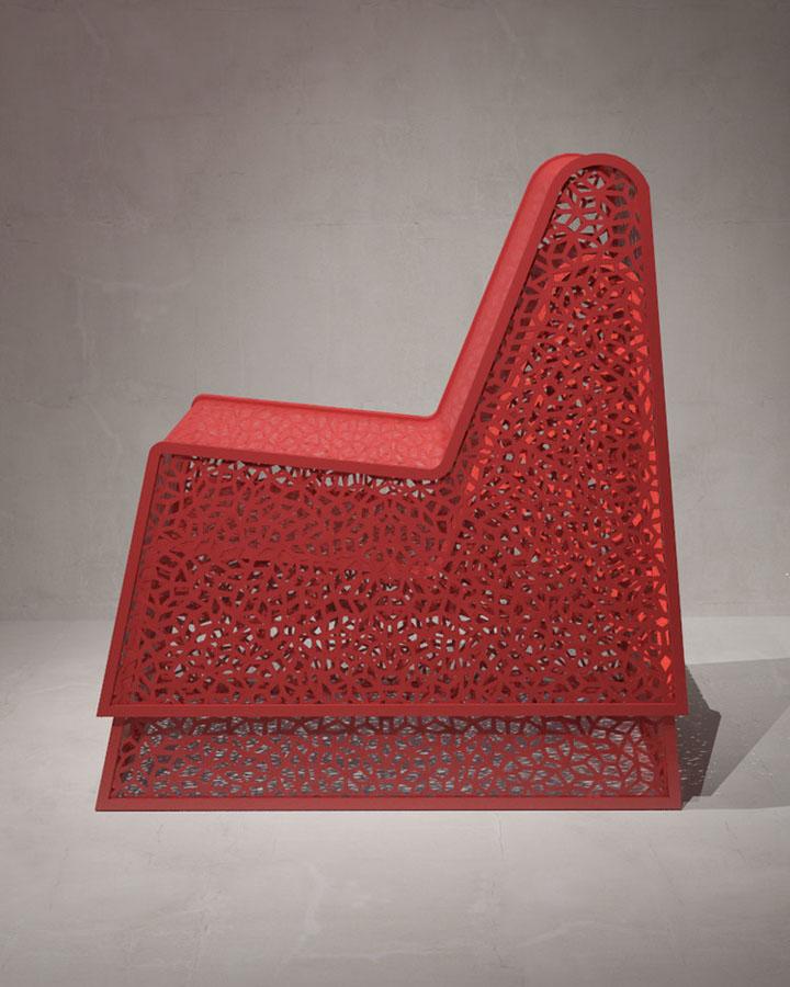 Уникальное кресло - вид сбоку