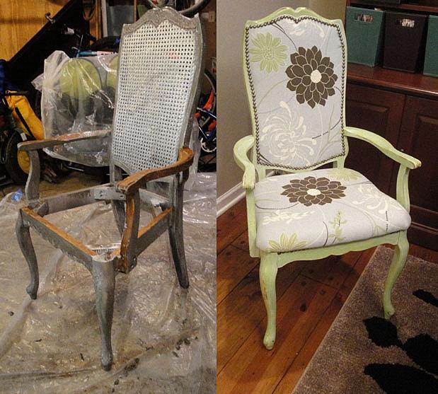 Чудесная реставрация деревянного старинного стула