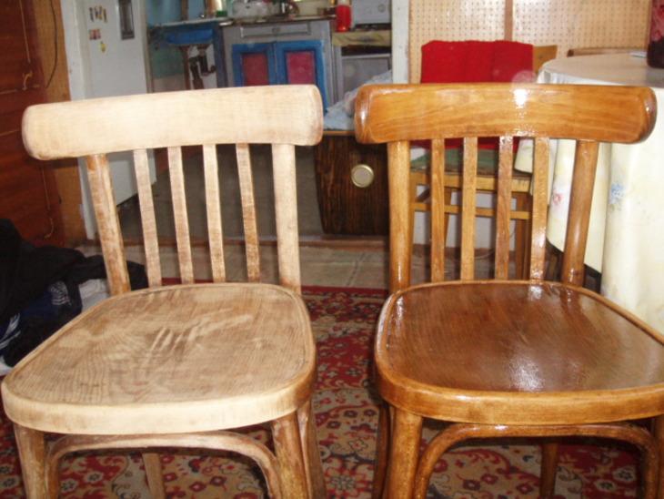 Красивая реставрация деревянного старинного стула