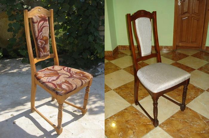 Оригинальная реставрация деревянного старинного стула