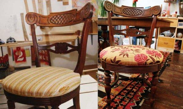 Замечательная реставрация деревянного старинного стула