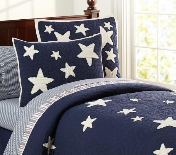 Пастельное белье со звездами