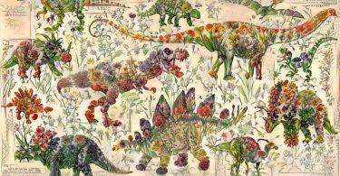 Любовь к цветам и динозаврам: цифровые изображения от Криса Родли