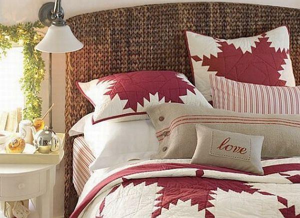 Красно-белое постельное белье