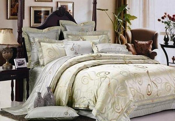 Зеленоватый оттенок постельного белья
