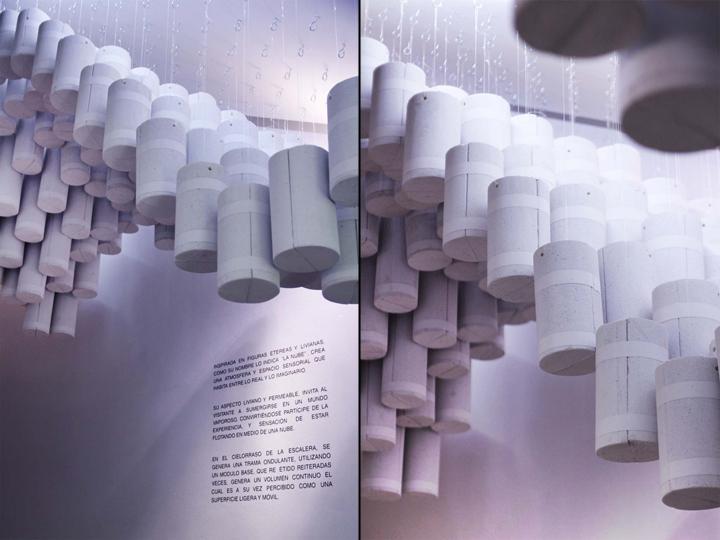 Конструкция the Cloud из светлых цилиндров