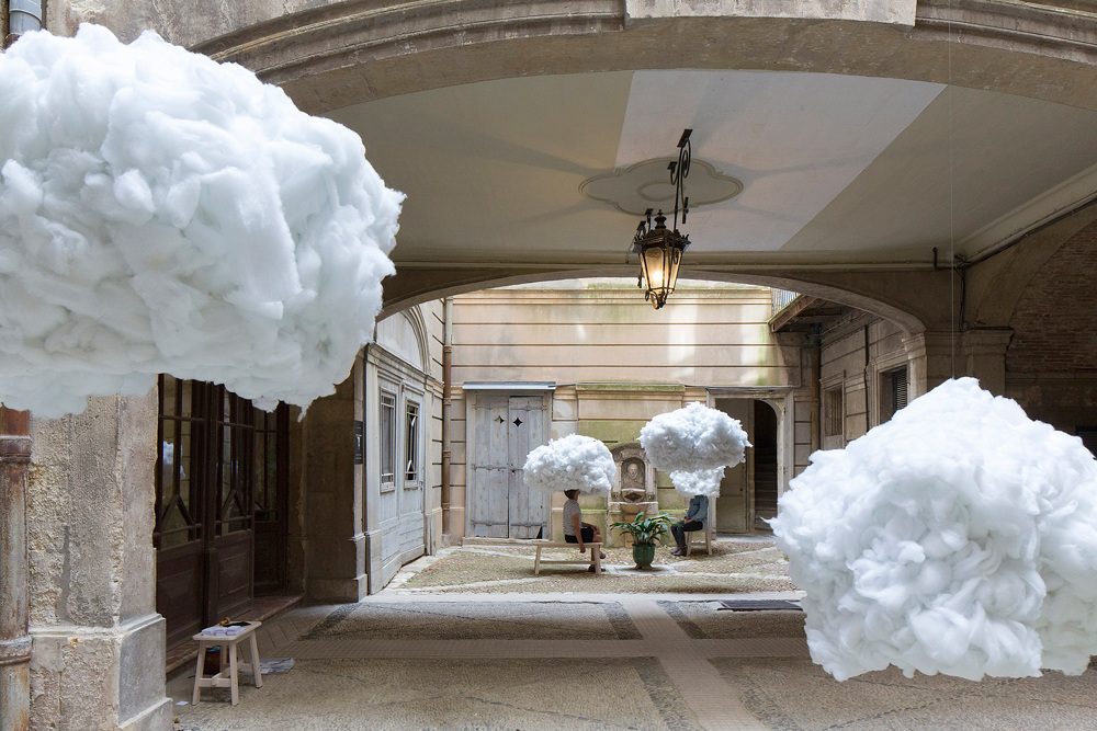 Голова в облаках: мультимедийная инсталляция на фестивале архитектуры Вивес в Монпелье
