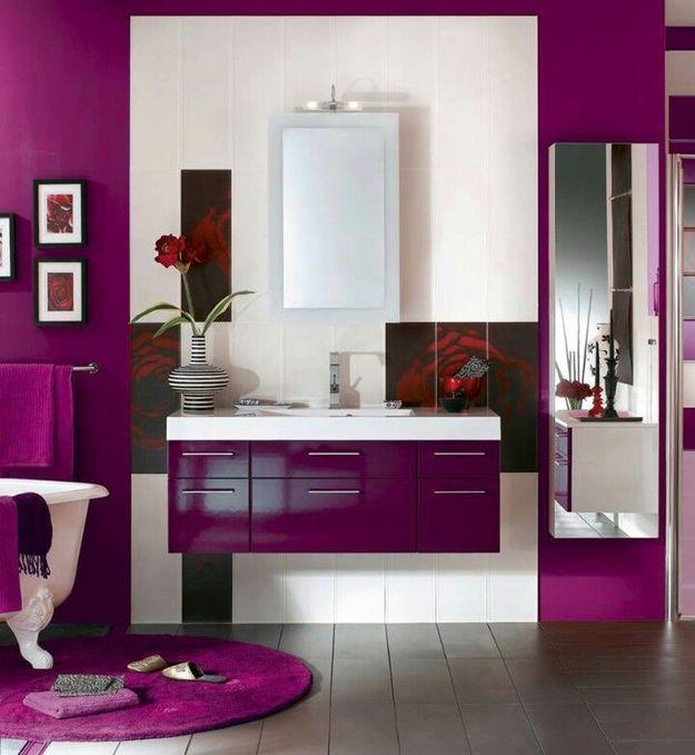 Ванная комната в фиолетовом цвете