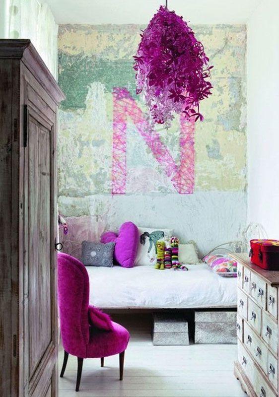 Акценты фиолетового цвета в интерьере