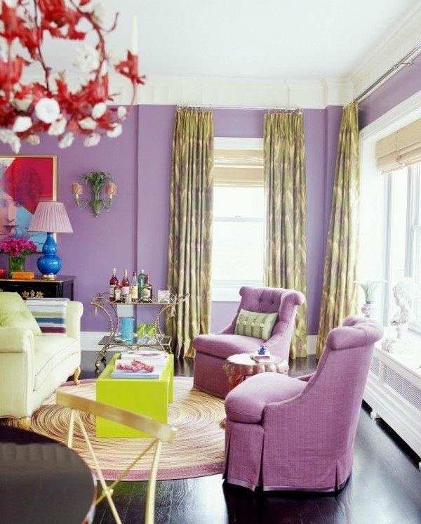 Чехлы на кресла в фиолетовом цвете