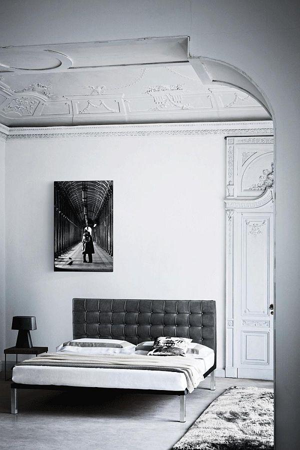 Лепка на потолке спальни