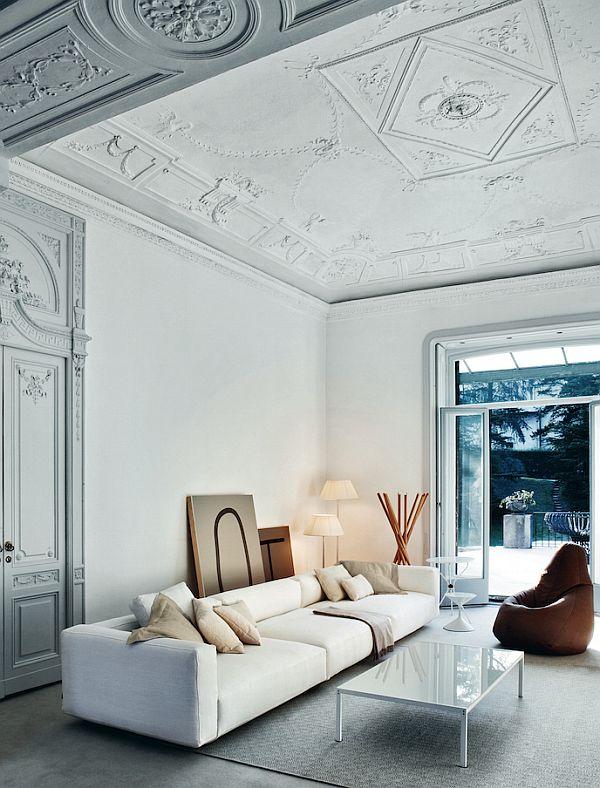 Дизайн интерьера гостиной в серо-голубых тонах