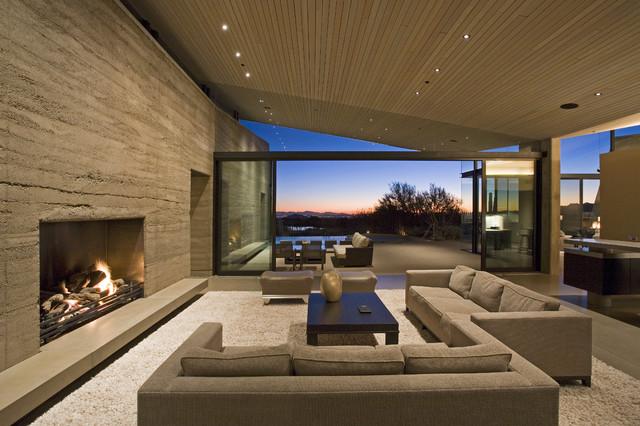 Дизайн интерьера гостиной в бежевых оттенках