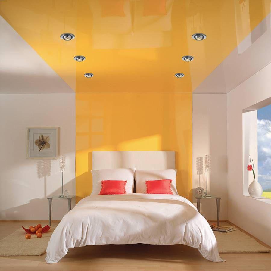 Прекрасный цвет в оформлении потолка