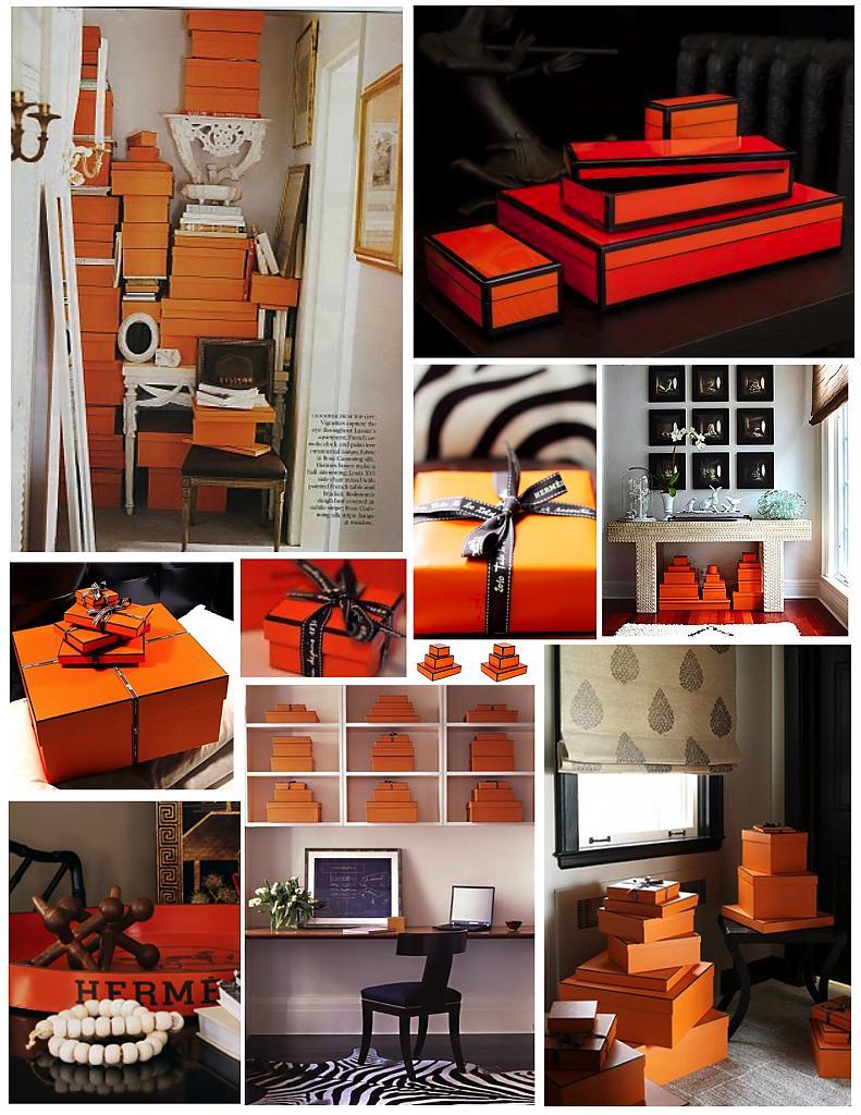 Оранжевая стопка с подарками
