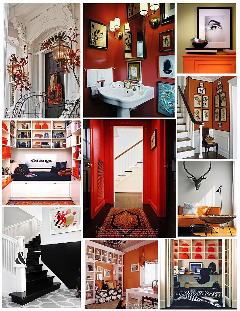 Оранжевые предметы интерьера