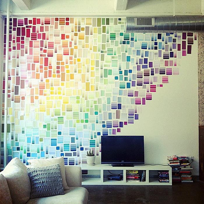 Украсить стену в офисе своими руками