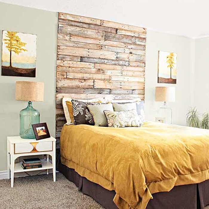 Декоративные элементы оформления стены в дизайне интерьера комнаты