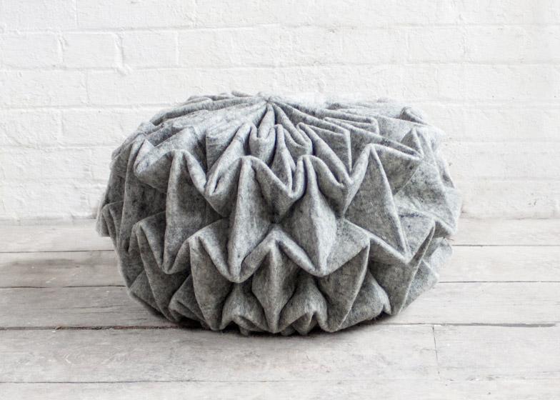 Шикарный шерстяной пуф Cones