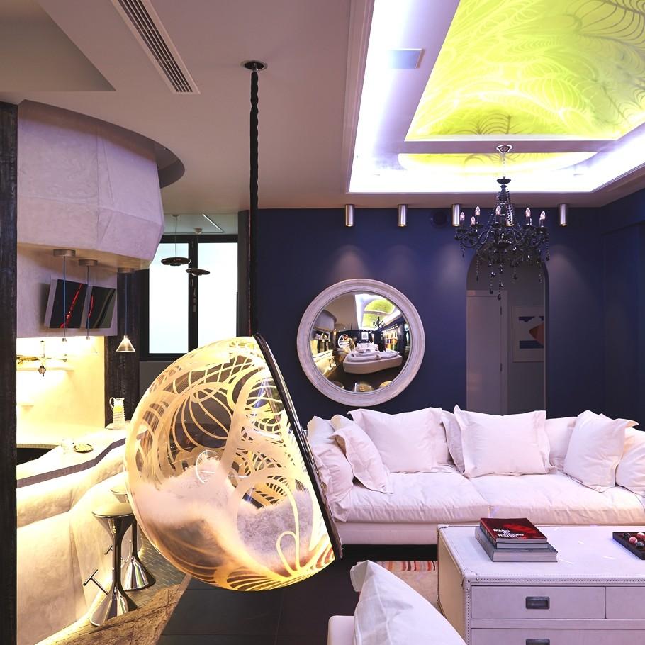 Креативный световой дизайн интерьера