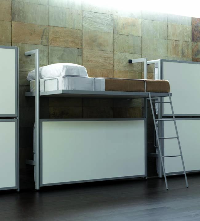 Роскошная складная кровать в интерьере помещения