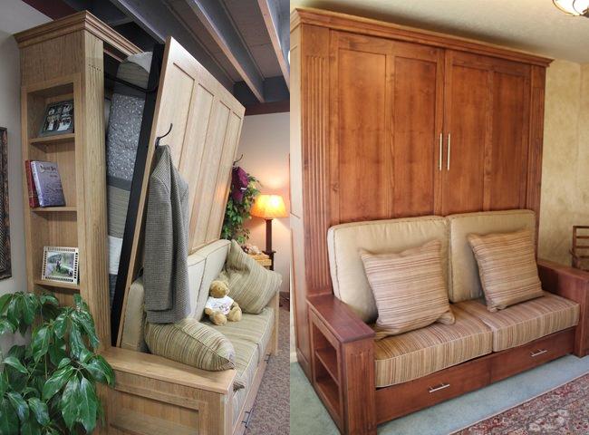 Умопомрачительная складная кровать в интерьере помещения