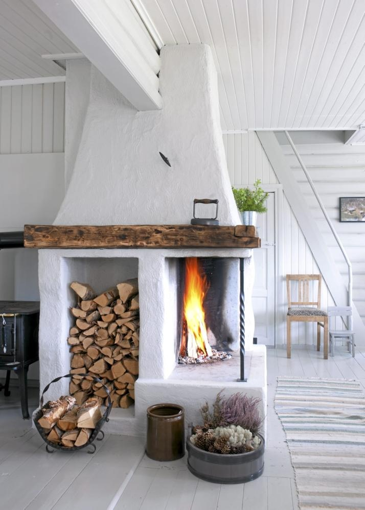Камин в дизайне интерьера комнаты
