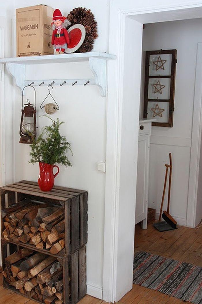 Дрова для камина в дизайне интерьера комнаты