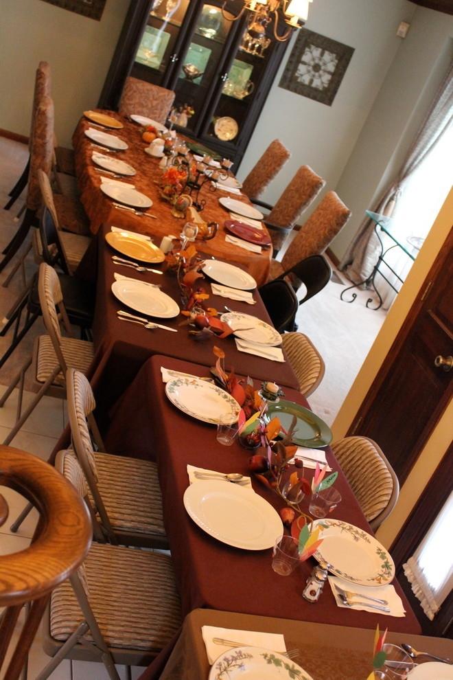 Осенние предметы декора на столе
