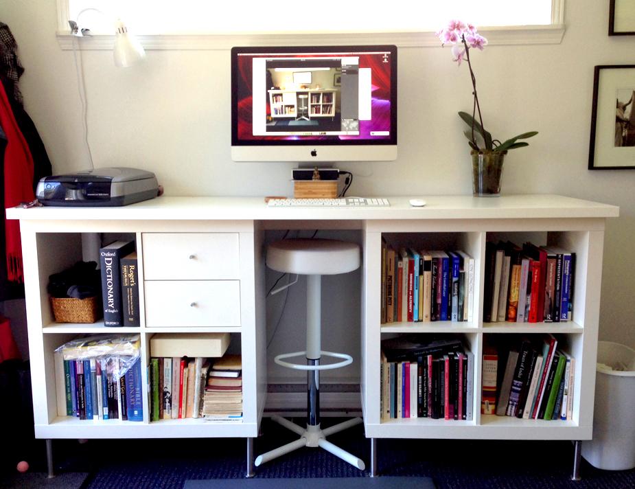 Стол для работы стоя из комплектующих частей