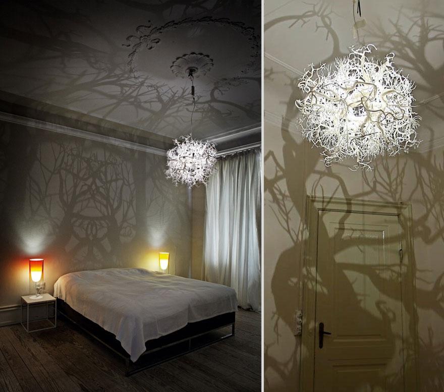 Изысканный светильник с эффектом дремучего леса