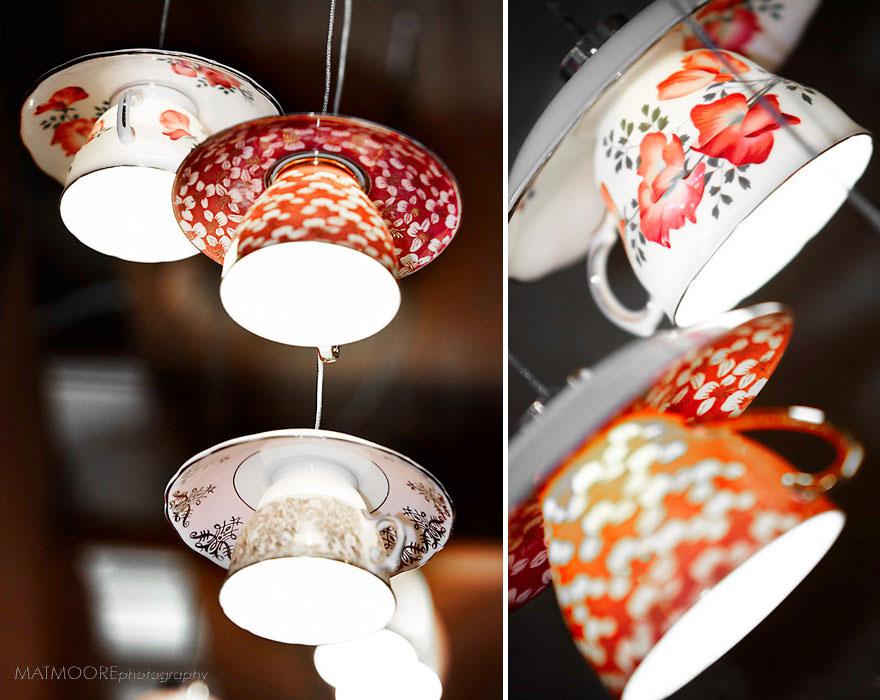 Уникальный светильник из чайного сервиза