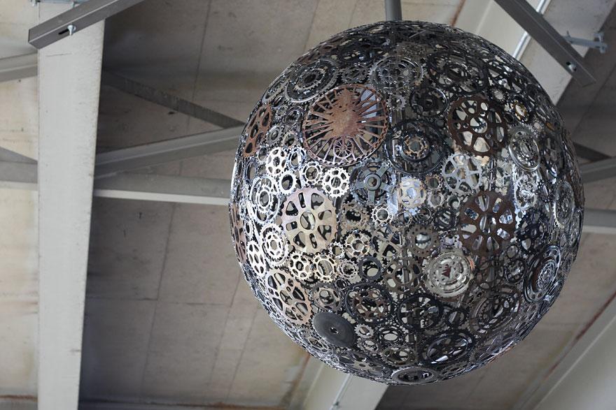 Металлический светильник шар своими руками