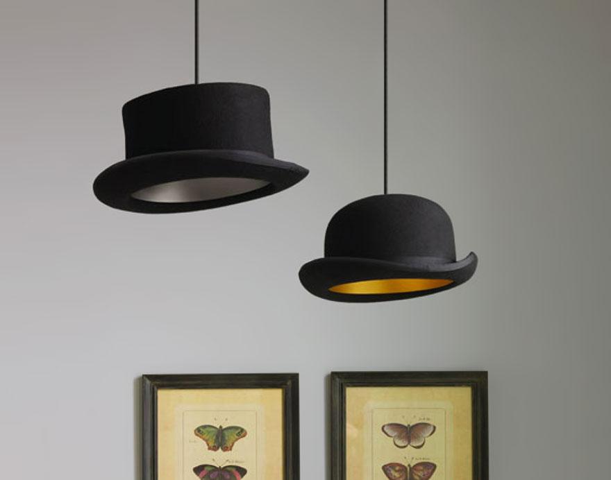 Яркий светильник в форме шляпы