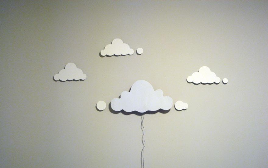 Яркий светильник облака для детской своими руками