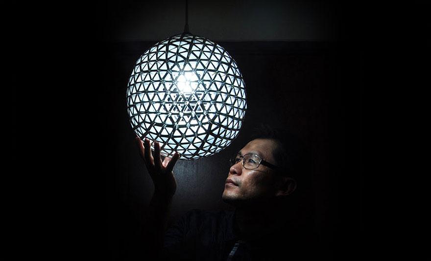 Восхитительный светильник шар своими руками