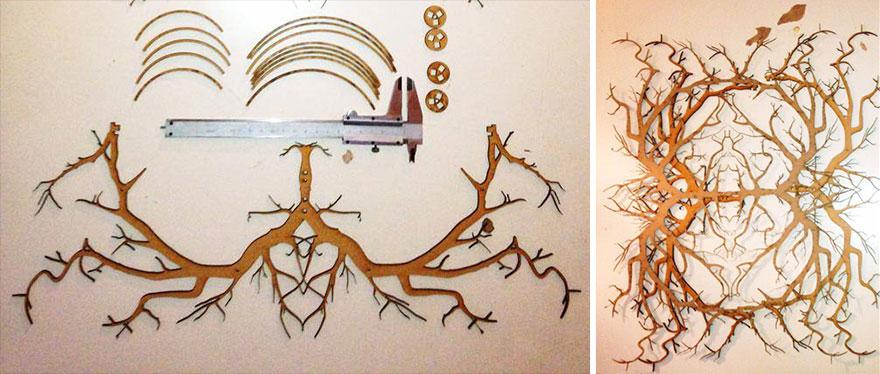 Уникальный светильник своими руками с эффектом дремучего леса