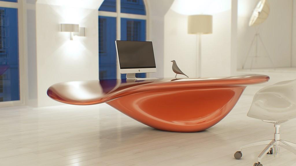 Глянцевый стол для кабинета