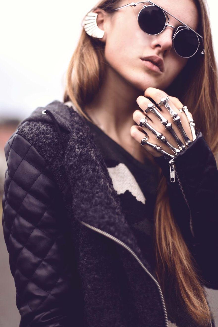 Кольцо Скелет руки