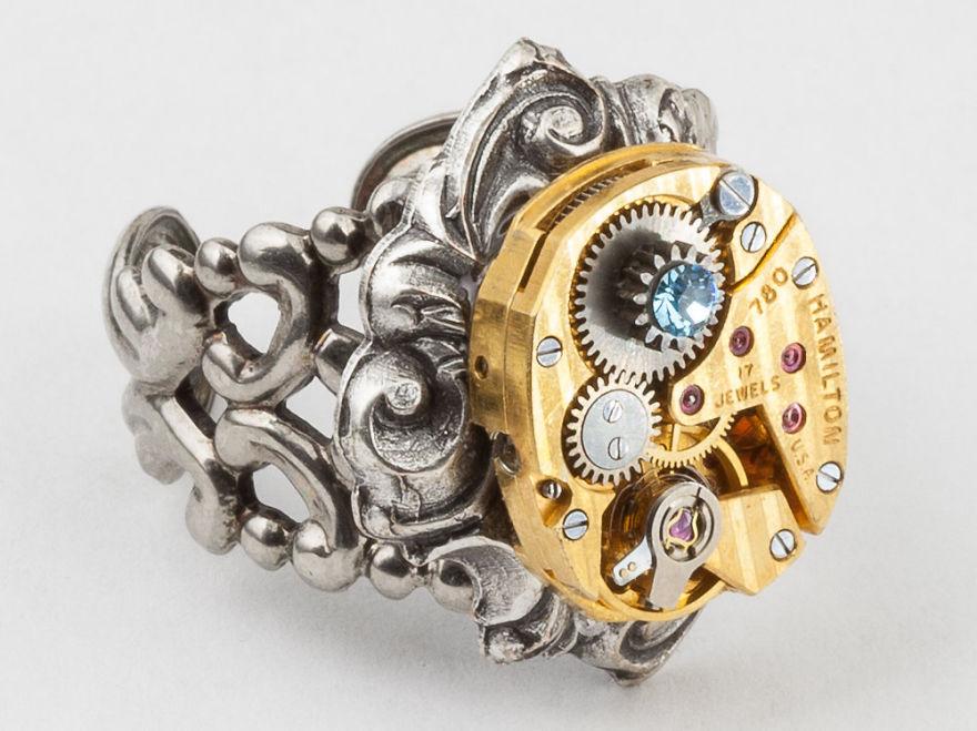 Кольцо Стимпанк.