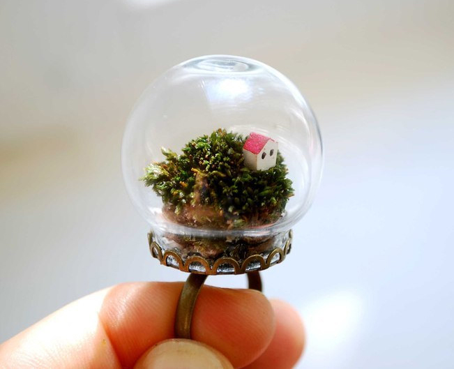 Кольцо из серии Реальный цветок