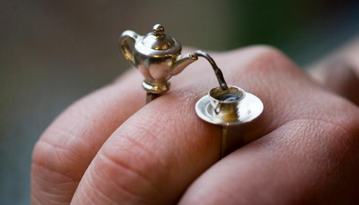 Кольцо Давайте играть в чаепитие